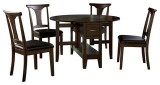 A-America Brooklyn Heights 5-Piece Gate Leaf Dining Room Set With T-Back Chairs