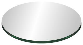 """10"""" Round Glass Top 3/8"""" Thick With Flat Polish Edge"""