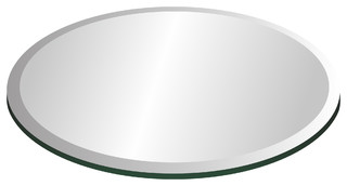 "22"" Round Glass Top 1/2"" Thick With 1"" Bevel Edge"