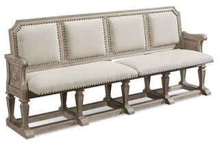 Arch Salvage Becket Dining Bench Parchment