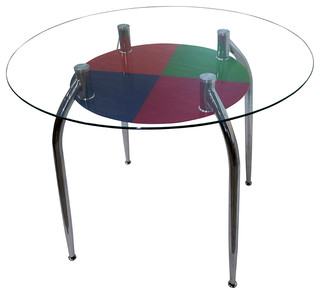Nicole Counter High Glass Dining Table