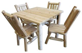"Northern White Cedar Log Dining Table 40""x40"""
