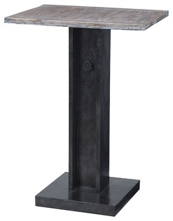 Table Bistro Accent Table With Natural Wood Top