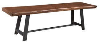 Coast to Coast Highlander Brown Dining Bench Brown and Gray
