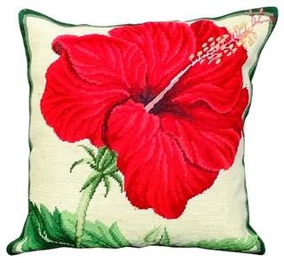 Needlepoint Botanical Cushion Cover