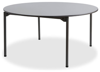 Maxx Legroom Wood Folding Table 60 Round