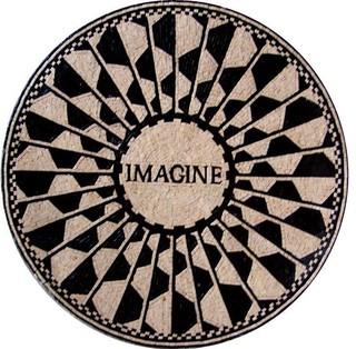 "Modern Mosaic Medallion Imagine 24""x24"""