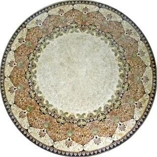 "Mosaic Medallion Groovy Tabletop 12""x12"""