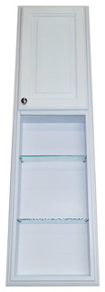 "54"" Recessed White Enamel Finished Montery Pantry Storage Cabinet With 30"" Shelf"