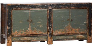 Antique Blue Gray Solid Sideboard