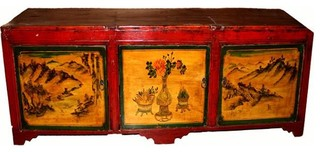 Consigned Red Top TV Sideboard