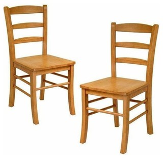 Winsome Ladder Back Chair Light Oak Set of 2