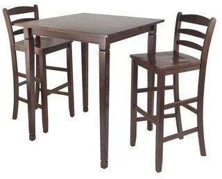 Winsome 3-Piece High Pub Dining Table with Ladder Back High Chair