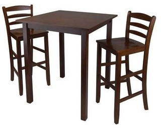 Winsome 3-Piece High Table With Ladder Back Stool