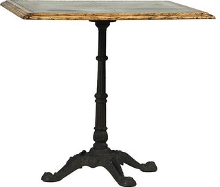 William Vintage Antiqued Oak Bistro Table