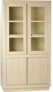Miranda White Lime Paint Storage Cabinet