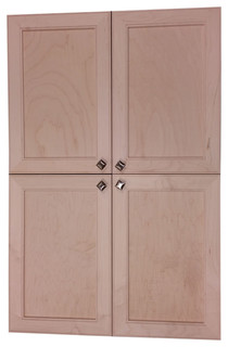 "Village SQ Recessed 4-Door Frameless 18/24 Pantry Cabinet 2.5""x45"""