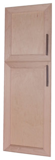 "Village BP Recessed 2-Door Frameless 24/34 Pantry Cabinet 5.5""x61"""