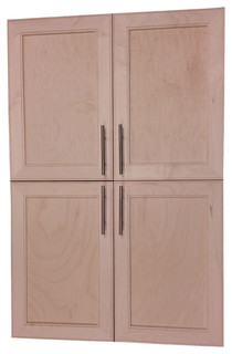 "Village BP Recessed 4-Door Frameless 18/24 Pantry Cabinet 7.25""x45"""