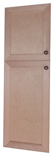Village BCK on the Wall 2-Door Frameless 22/24 Pantry Cabinet 7.25x49