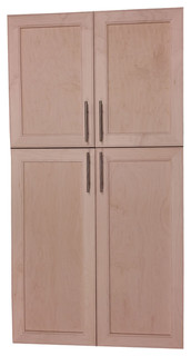 Village BP on the Wall 4-Door Frameless 22/24 Pantry Cabinet 7.25x49