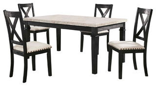 Picket House Furnishings Bradley 5-Piece Dining Set-Table 4 X-Back Side Chairs