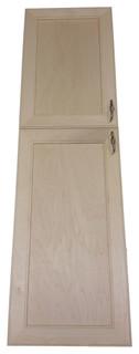 "42"" High Village BCH Recessed 2-Door Frameless 18/24 Pantry Cabinet 5.5""D"