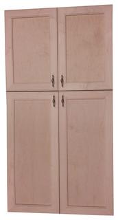 "58"" High Village BCH Recessed 4-Door Frameless 24/34 Pantry Cabinet 5.5""D"