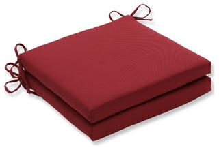 Pompeii Red Oversized Seat Cushion Set