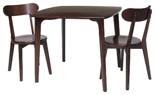 Pauline 3-Piece Set Dining Table With 2 Chairs