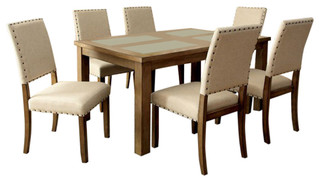 Melston Dining Table + 6 Side Chairs Set