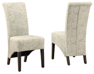 Dining Chairs Vintage French Fabric Set of 2