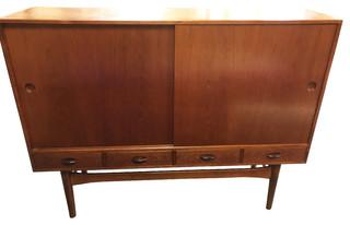 "Consigned Vintage 63"" Danish Mid-Century Modern Sideboard"