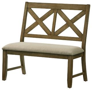 Standard Furniture Omaha X-Back Bench Gray 16689