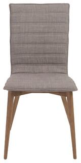 Yoland Side Chair Set of 2 Gray/Walnut
