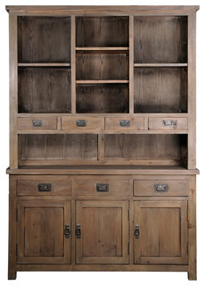 Elmwood Park Mission Sideboard With Hutch