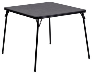 Offex JB-2-GG Folding Card Table Black