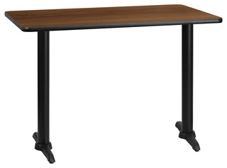 "Flash Furniture 30""x42"" Rectangular Walnut Laminate Table"