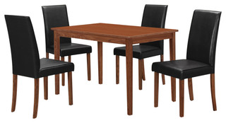 Coaster Wood 5-Piece Dark Brown Natural Walnut Dining Set