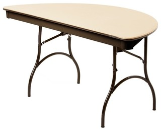 "MityLite ABS Plastic 60"" Half Round Folding Table"