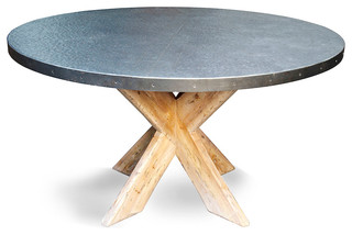 "Noir 54"" Austin Table With Zinc Top"