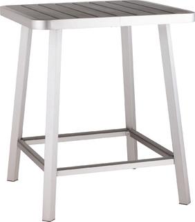 Zuo Megapolis Vive Bar Table Brushed Aluminum