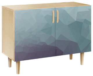Chilly Topography Dowel Credenza Natural/Natural