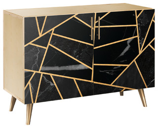 Stormy Disposition Flare Credenza Natural/Brass