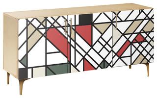 Organic Modernism Arc Sideboard Natural/Brass
