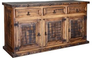 Rustic Pine Buffet W/ Drawers
