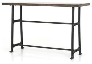 Tazia Bar + Counter Table English Brown Oak