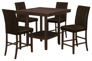 Nobel 5-Piece Espresso Counter Height Set