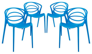Locus Dining Side Chairs Set of 4 Blue