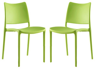 Hipster Dining Side Chairs Set of 2 Green